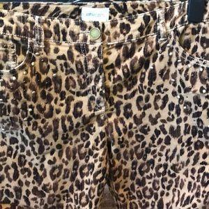 Chico's size 1 animal print corduroy pants.